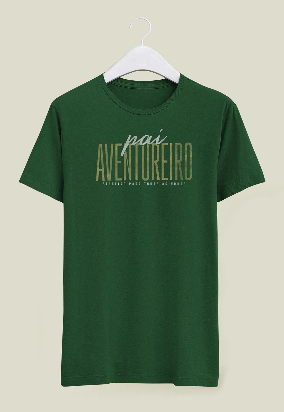 Camiseta Pai Aventureiro Verde Escuro