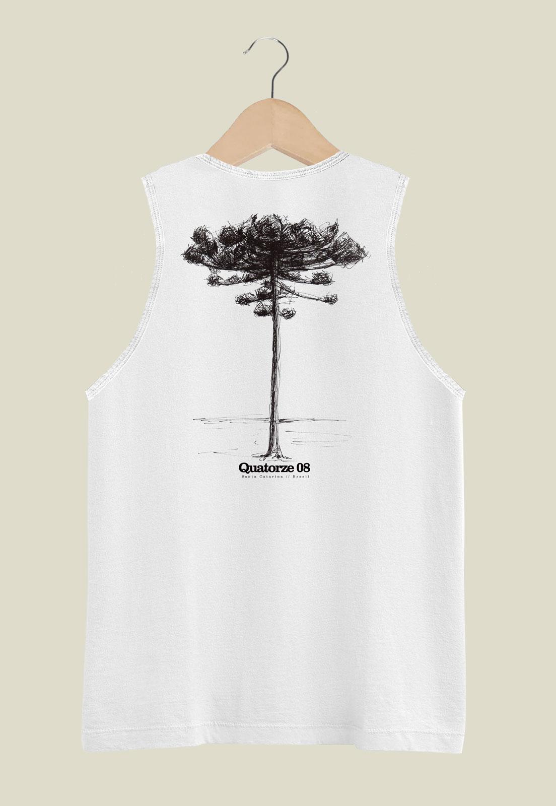 Camiseta Regata Araucária Branca