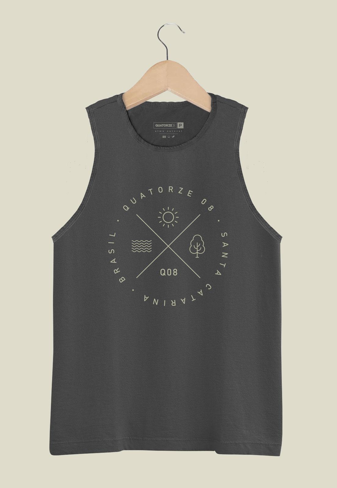 Camiseta Regata Elementos Chumbo