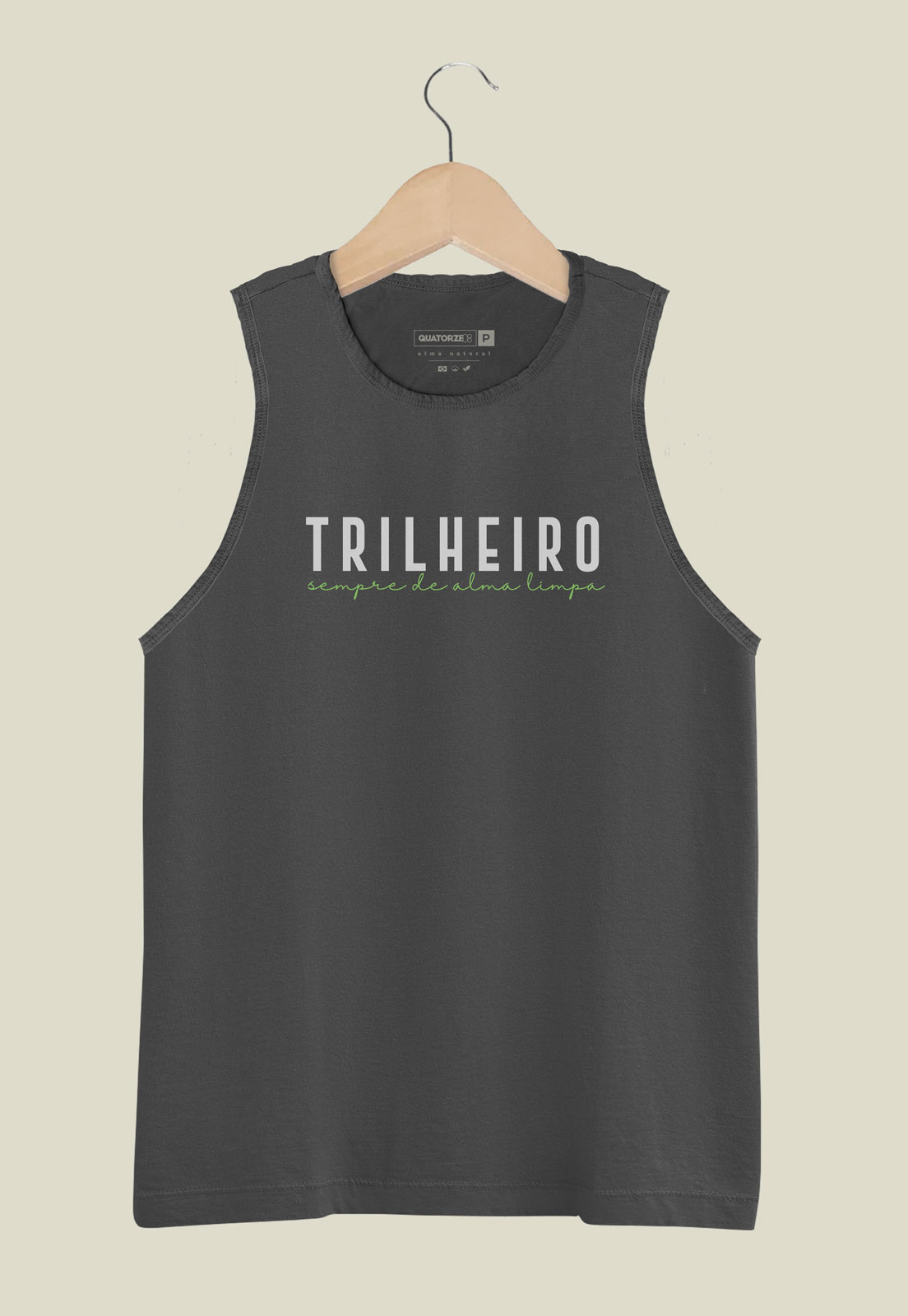 Camiseta Regata Trilheiro Chumbo