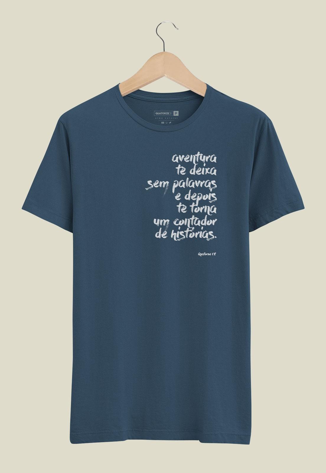 Camiseta Sem Palavras Azul Marinho