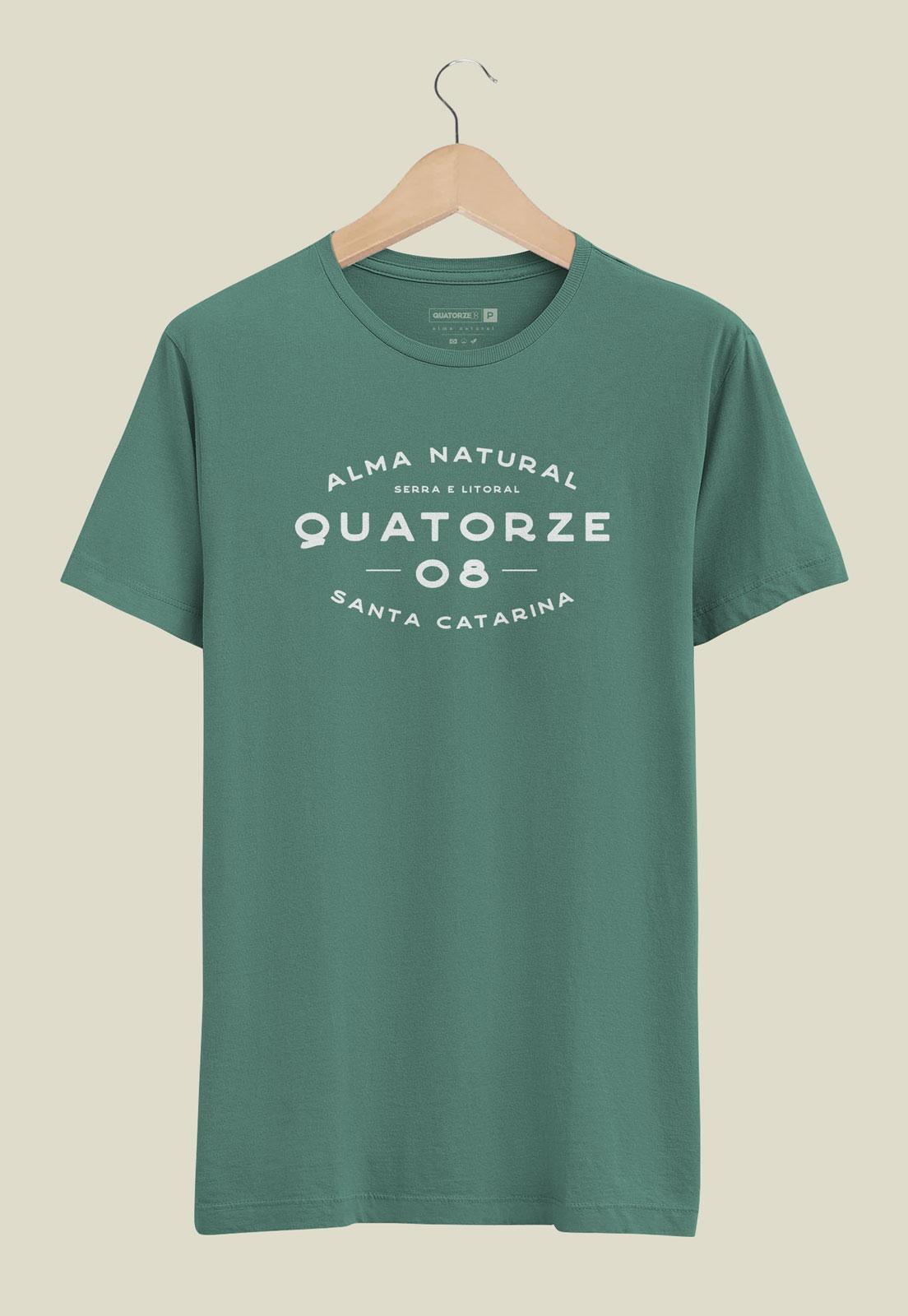 Camiseta Serra e Litoral Verde Estonada