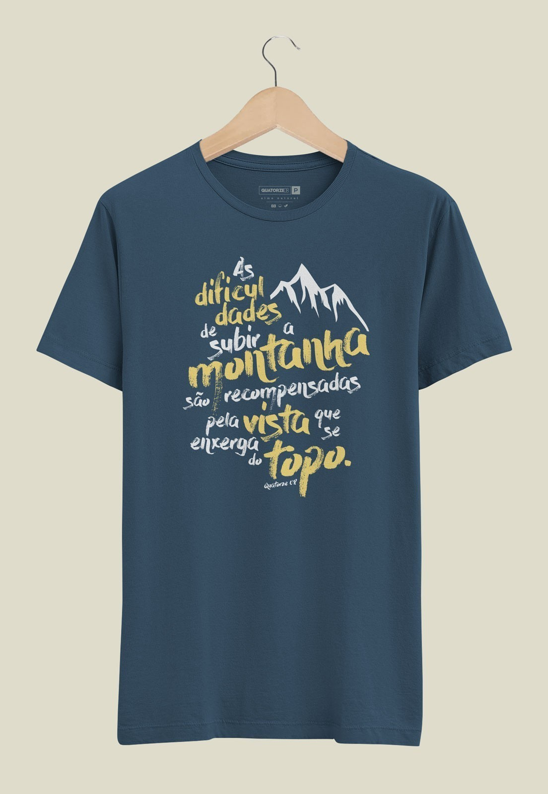 Camiseta Subir a Montanha Azul