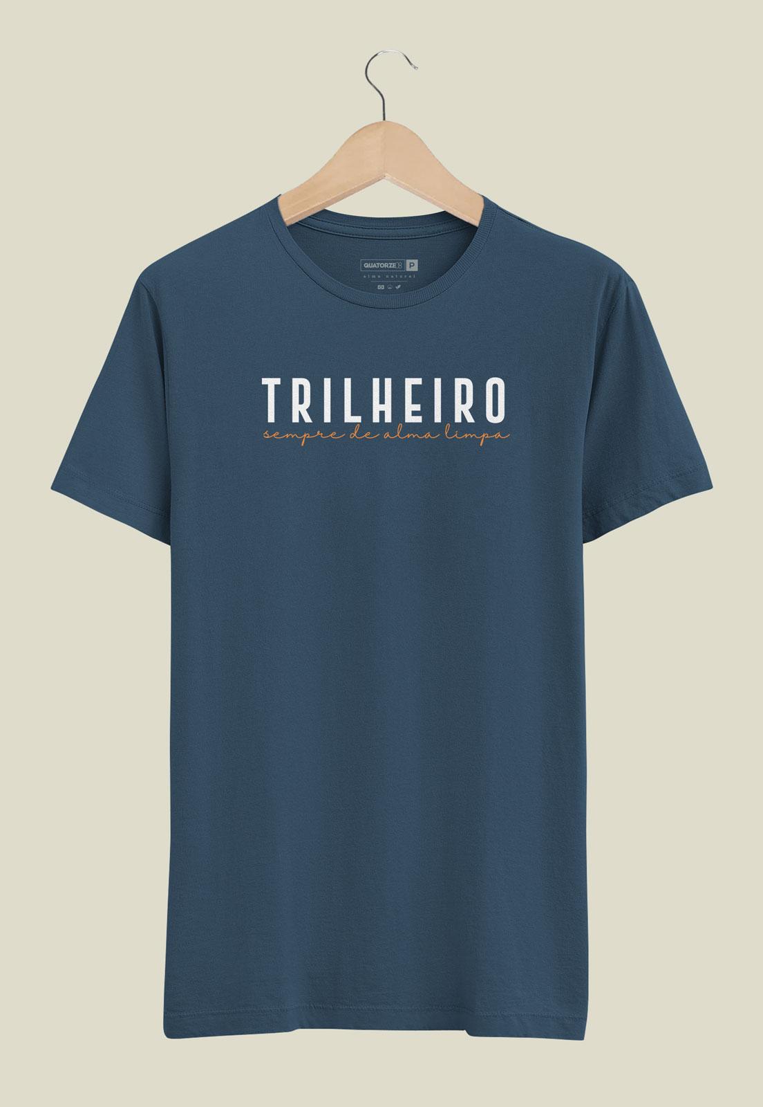 Camiseta Trilheiro Azul Marinho