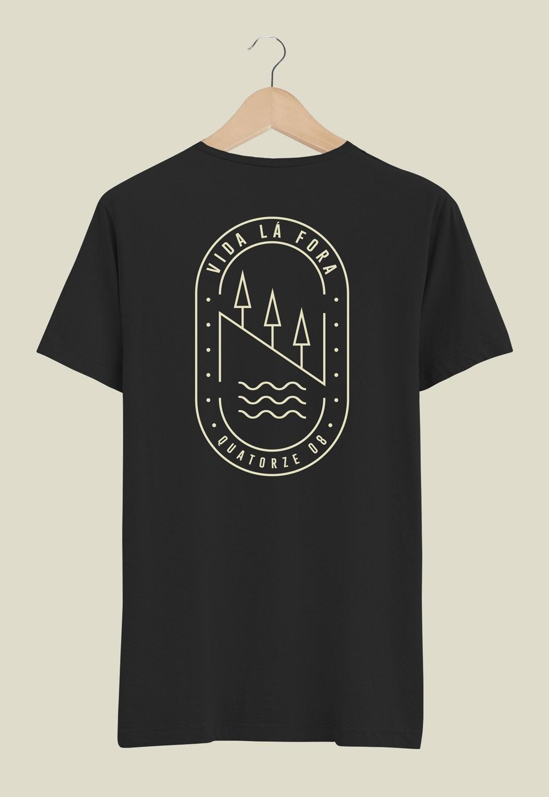 Camiseta Vida Lá Fora Preta