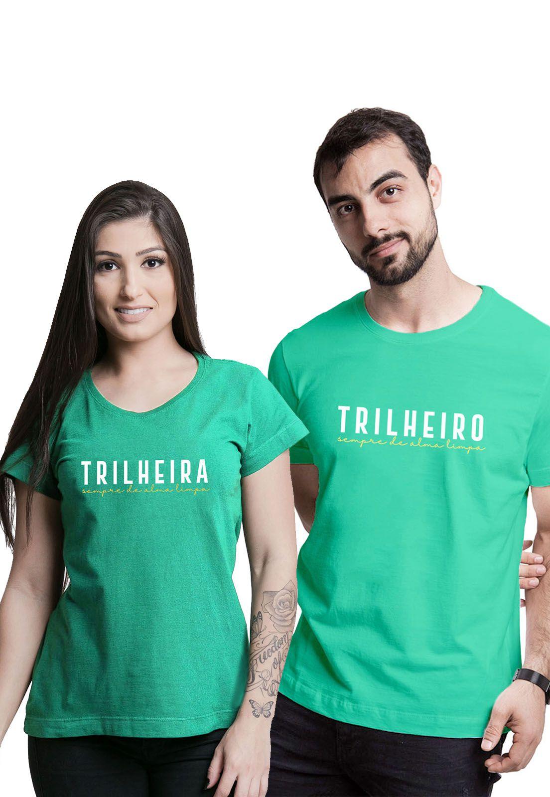 Kit Camisetas Trilheiros Verde Médio