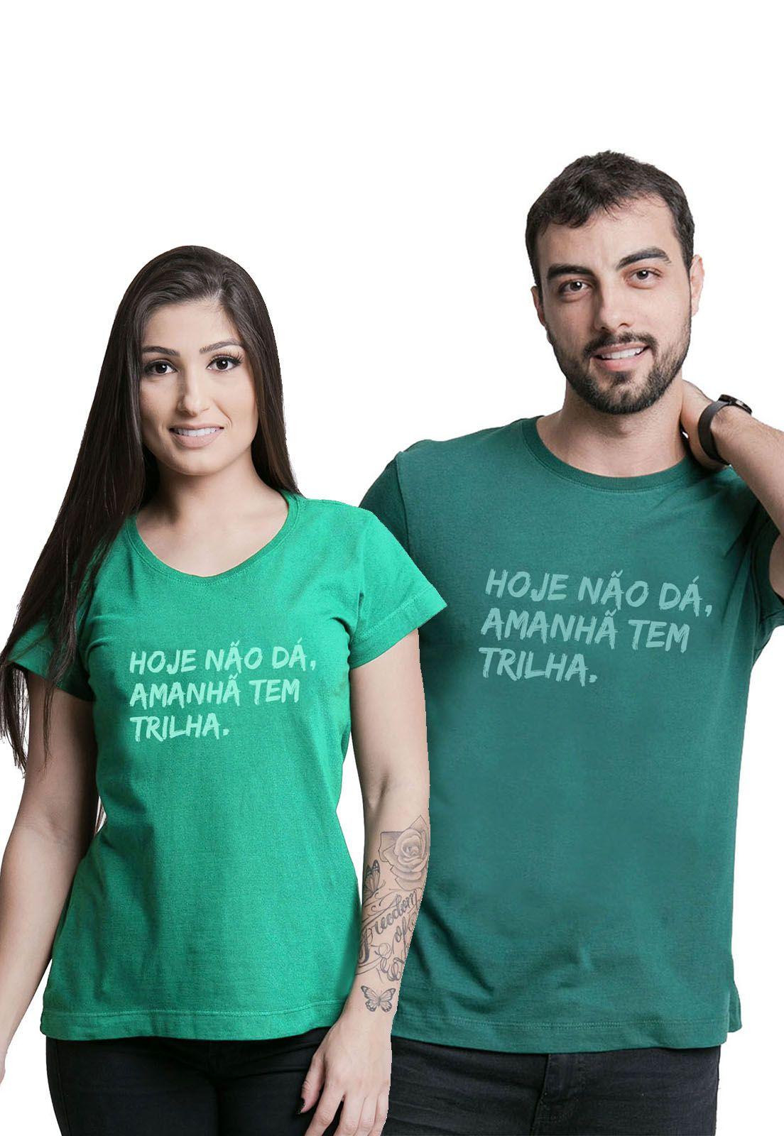 Kit Camisetas Amanhã tem Trilha Verde