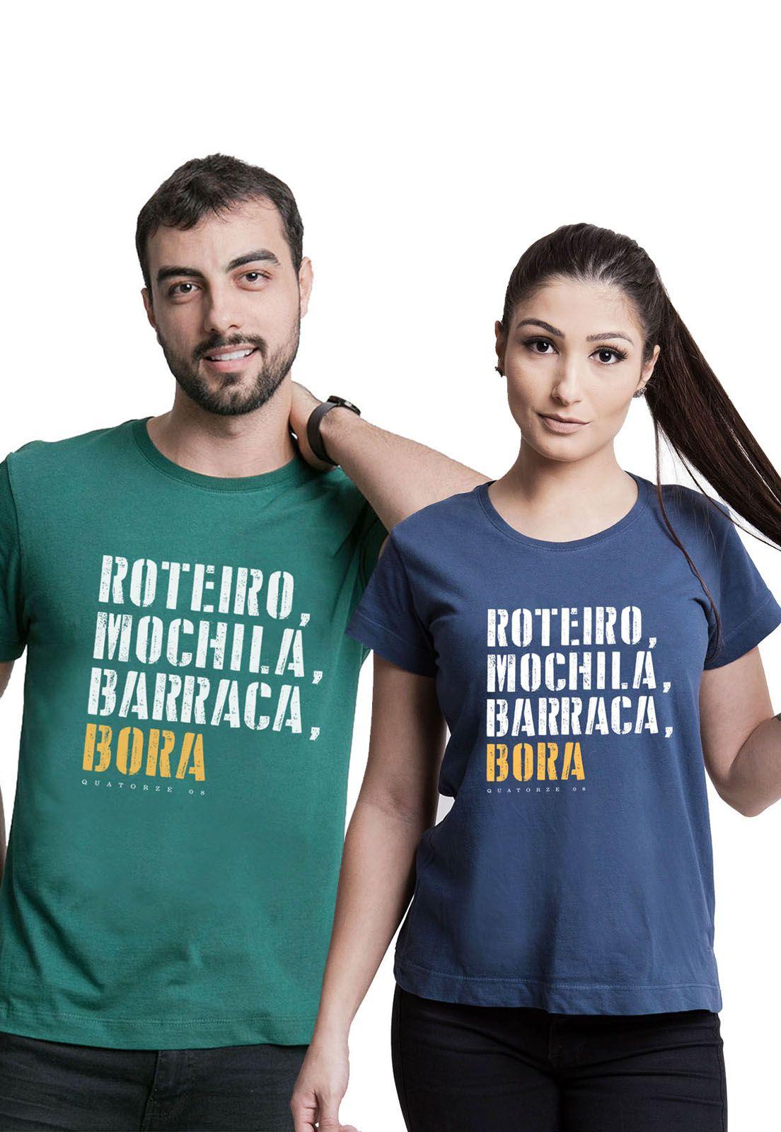 Kit Camisetas Barraca e Bora