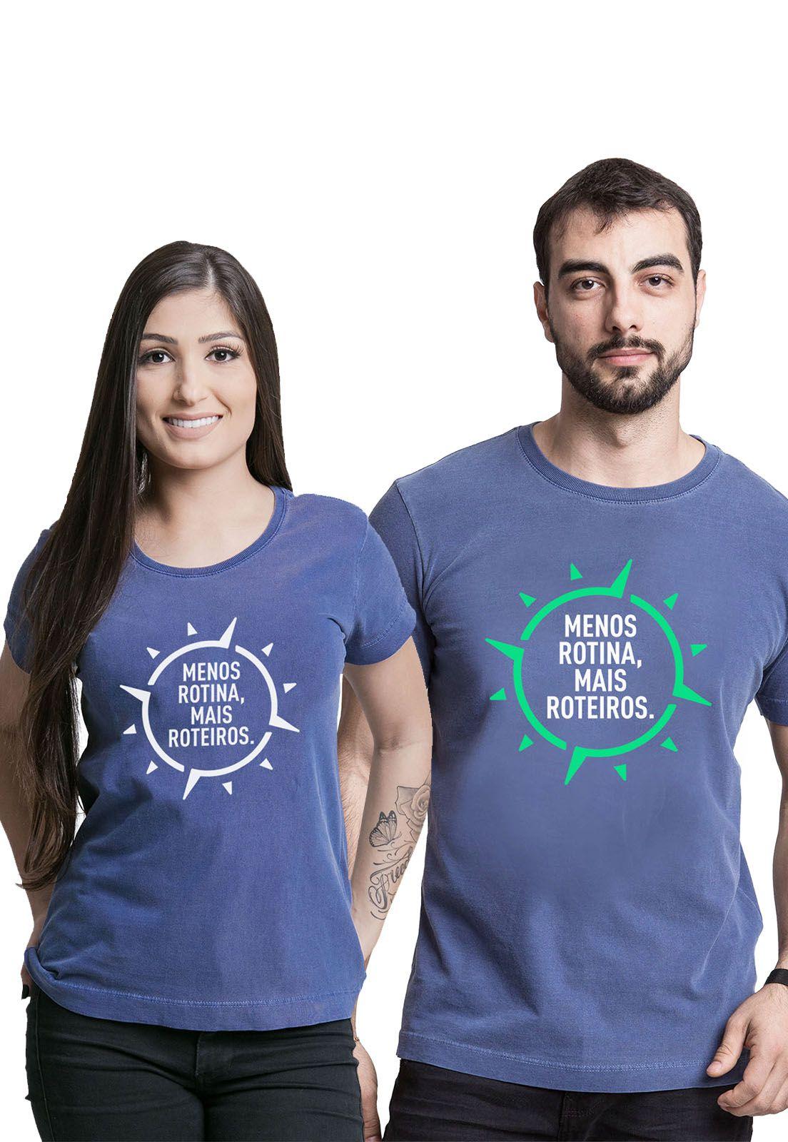 Kit Camisetas Menos Rotina, Mais Roteiros 1