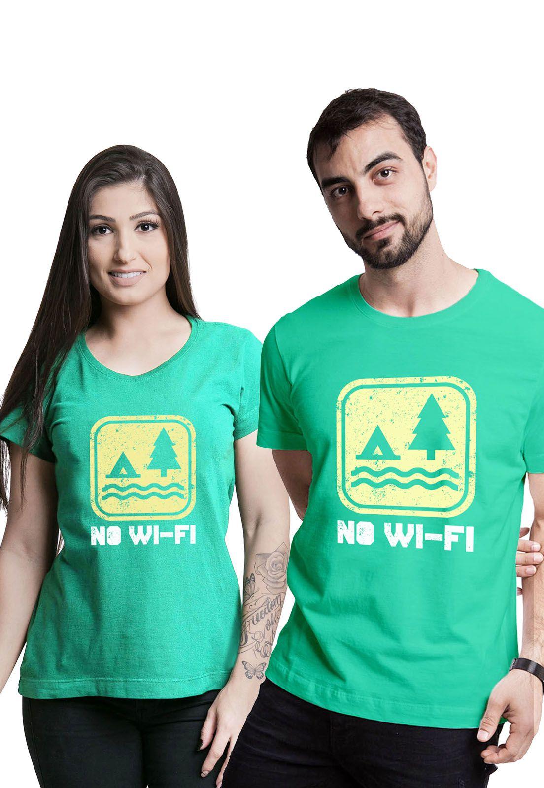 Kit Camisetas No Wi-fi Verde Médio