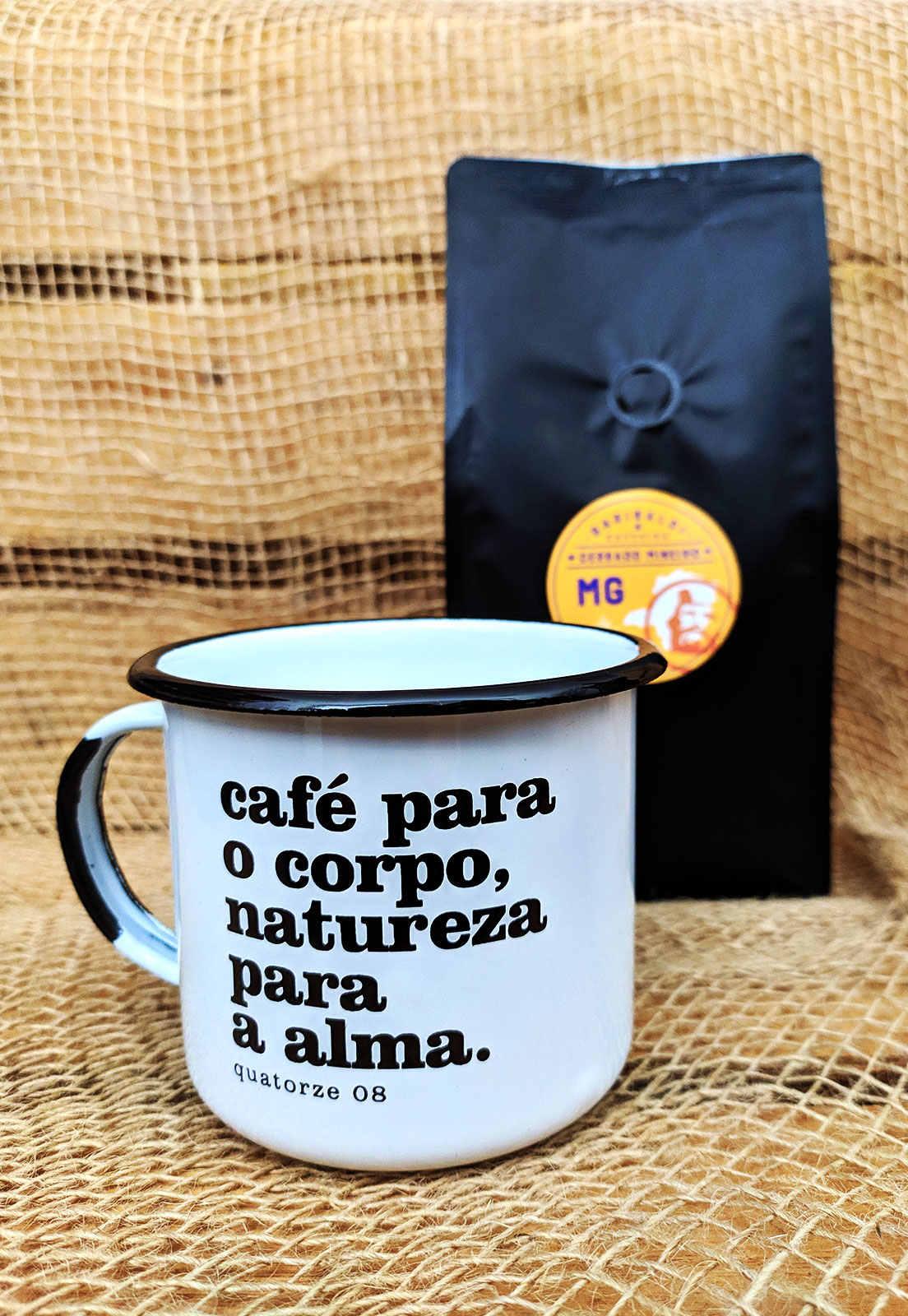 Presente dia das mães com café e UMA caneca de aço