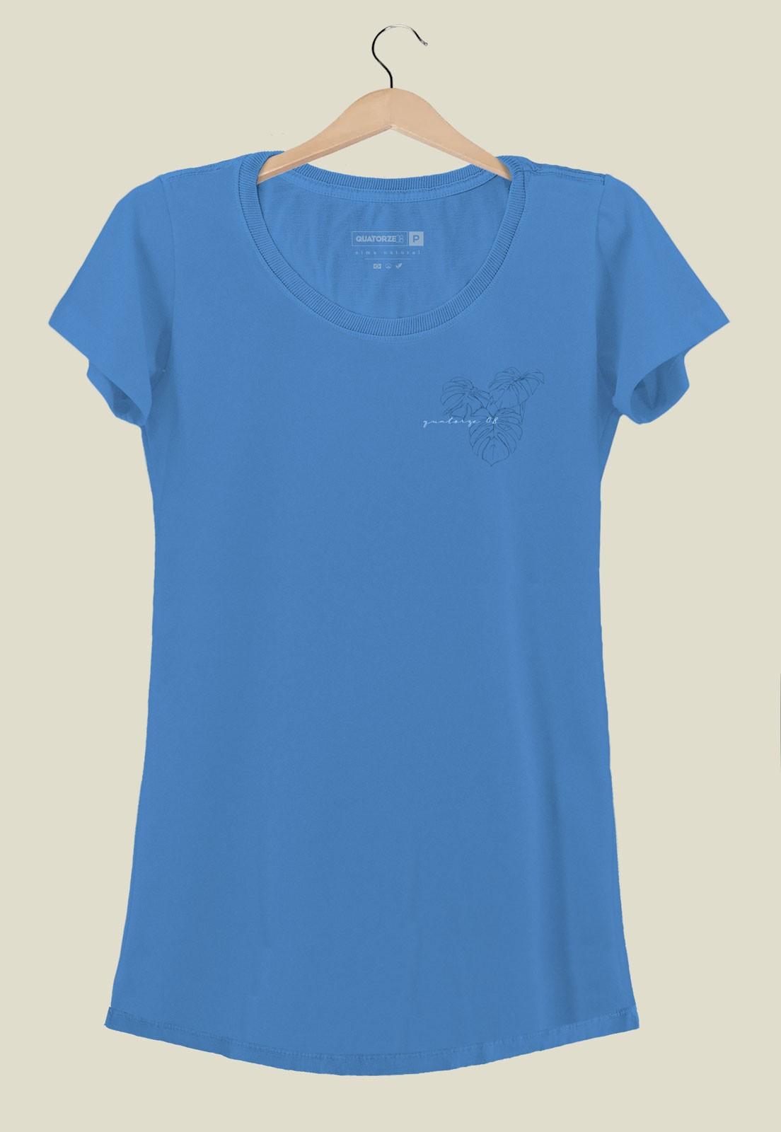 Vestido Costela de Adão Azul Médio