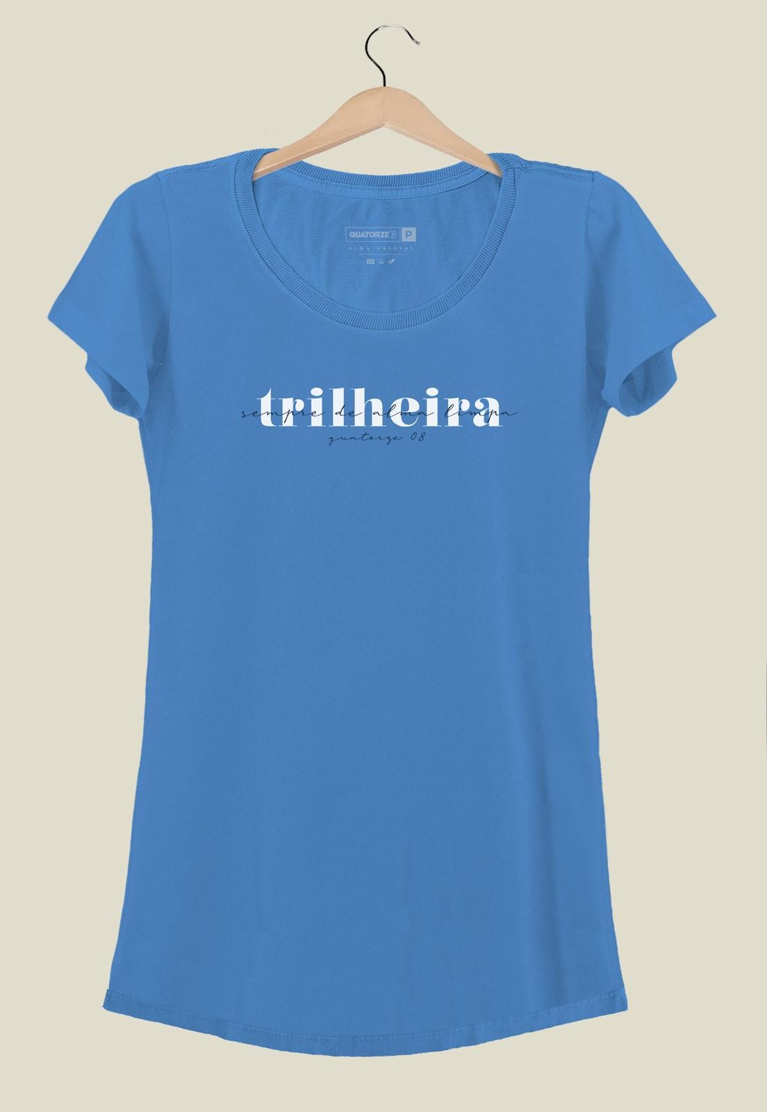 Vestido Trilheira Azul Médio
