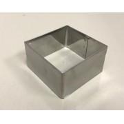 Aro Cortador Quadrado Inox - 6,3 x 4 cm - Doupan