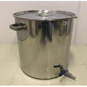 Caldeirão Cervejeiro Inox para Fervura - 50 cm - 95 Litros - com Registro