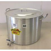 Caldeirão Cervejeiro 127 litros - 60 cm - com Registro - Alumínio ABC