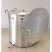 Caldeirão Cervejeiro 170 litros - 60 cm - com Registro e Fundo Falso - Alumínio ABC