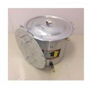 Caldeirão Cervejeiro 18,3 L - 30 cm - com Registro, Fundo Falso e Válvula Fly Sparge - Alumínio Universal
