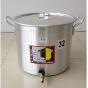 Caldeirão Cervejeiro 22,5 litros - 32 cm - com Registro - Alumínio Universal