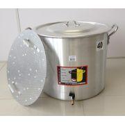 Caldeirão Cervejeiro 45,2 litros - 40 cm - com Registro e Fundo Falso - Alumínio Universal