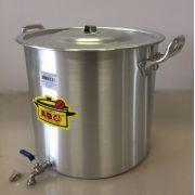 Caldeirão Cervejeiro 68,3 litros - 45 cm - com Registro - Alumínio ABC