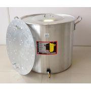 Caldeirão Cervejeiro 94,2 litros - 50 cm - com Registro e Fundo Falso - Alumínio Universal