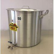 Caldeirão Cervejeiro 94,2 litros - 50 cm - com Registro - Alumínio ABC