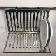 Escorredor Inox para 12 pratos - Linha Haus - Domama