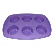 Forma de Silicone para 6 Cupcakes e Muffins Grande - Hercules