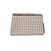 Grelha Inox 38 x 29 cm - 0,8 mm Espessura - Domama