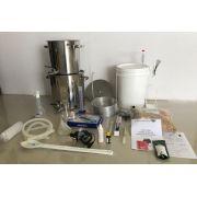 Kit Cervejeiro INOX para produção de 20 Litros de cerveja artesanal (com insumos) - 220v