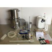 Kit Cervejeiro INOX para produção de 30 Litros de cerveja artesanal (com insumos) - 110v