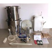 Kit Cervejeiro INOX para produção de 40 Litros de cerveja artesanal (com insumos) - 110v
