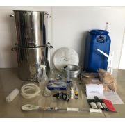 Kit Cervejeiro INOX para produção de 60 Litros de cerveja artesanal (com insumos) - 110v