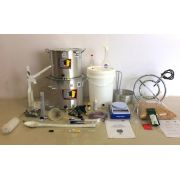 Kit Cervejeiro para Produção de 20L de Cerveja Artesanal (com Fogareiro e insumos) - 110v