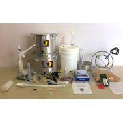 Kit Cervejeiro para Produção de 20L de Cerveja Artesanal (com Fogareiro e insumos) - 220v