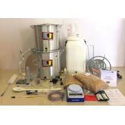 Kit Cervejeiro para Produção de 40L de Cerveja Artesanal (com Fogareiro e insumos) - 110v
