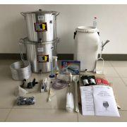 Kit Completo para Produção de 40L de Cerveja Artesanal (com insumos) - 220v