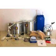 Kit Cervejeiro para Produção de 60L Cerveja Artesanal (com Fogareiro e insumos) - 110v