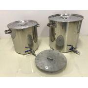 Kit de 2 Panelas Inox para Produção de 30 litros de Cerveja Artesanal