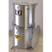 Kit de 2 Panelas para produção de 80 litros de Cerveja Artesanal (faz até 90 litros)