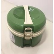 Marmita Térmica Verde - 2 divisórias - Taumer
