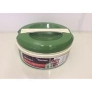 Marmita Térmica Verde - 3 divisórias - Taumer