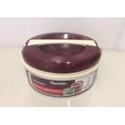 Marmita Térmica Vinho - 2 divisórias - Taumer