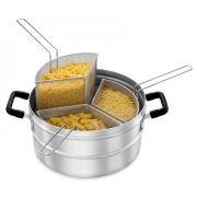 Multi-Cozer - Caçarola para Cozinhar Massa - com 3 Cestos - sem tampa - Alumínio ABC
