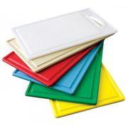 Placa de Polietileno Amarela 30 x 50 x 1,3 cm - com Pegador - Kitplas