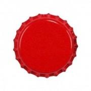 Tampas de Garrafa Tipo Coroa - Cor Vermelha - 100 Unidades