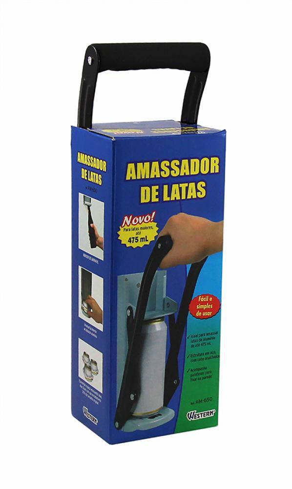 Amassador de Latas - para Latão até 475ml - Western  - Lojão de Ofertas