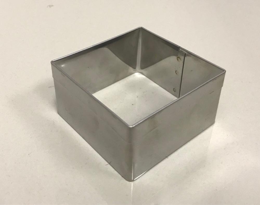 Aro Cortador Quadrado Inox - 7,4 x 4 cm - Doupan  - Lojão de Ofertas