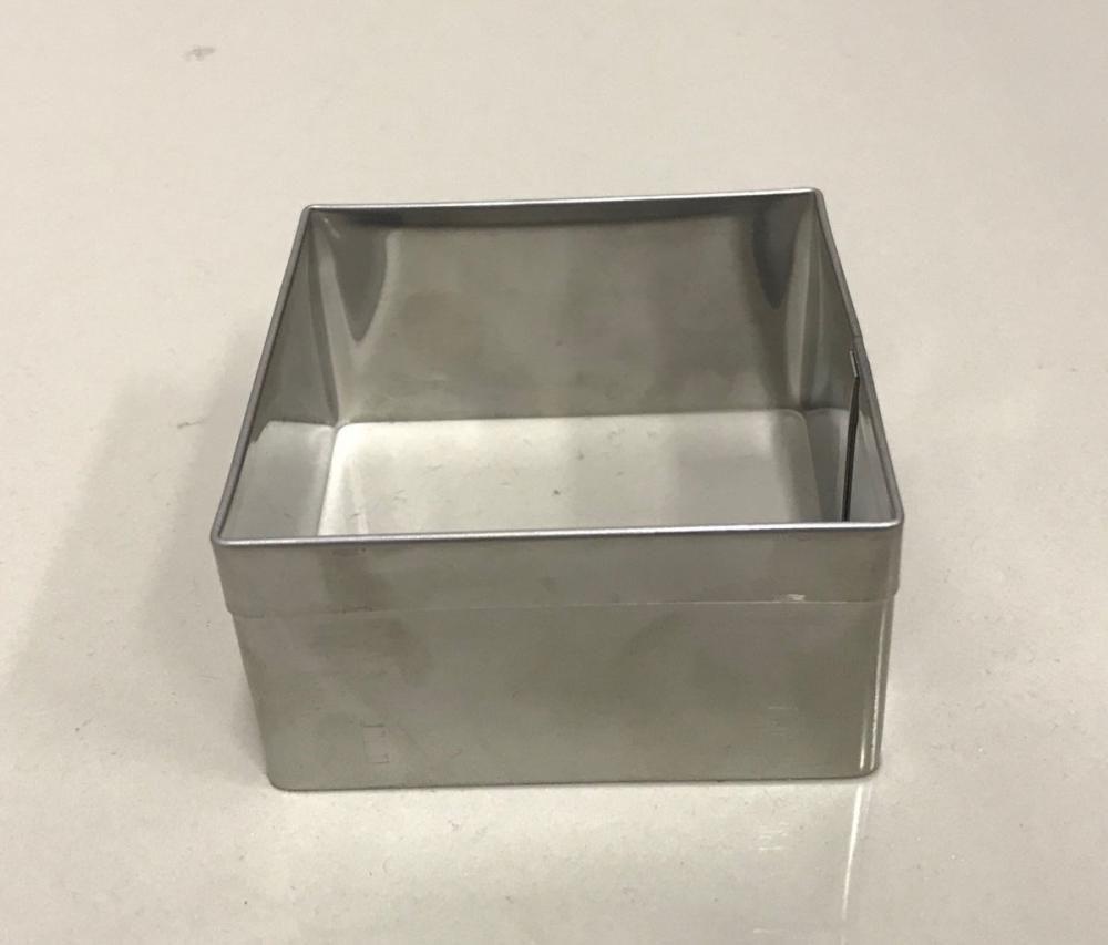 Aro Cortador Quadrado Inox - 9,8 x 4 cm - Doupan  - Lojão de Ofertas